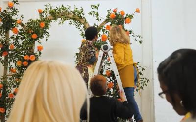 Intrigue Teaches Floral Installation Tour